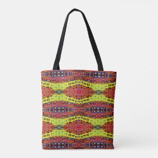Modern Artistic Fall Toned Snake Skin Pattern Tote Bag