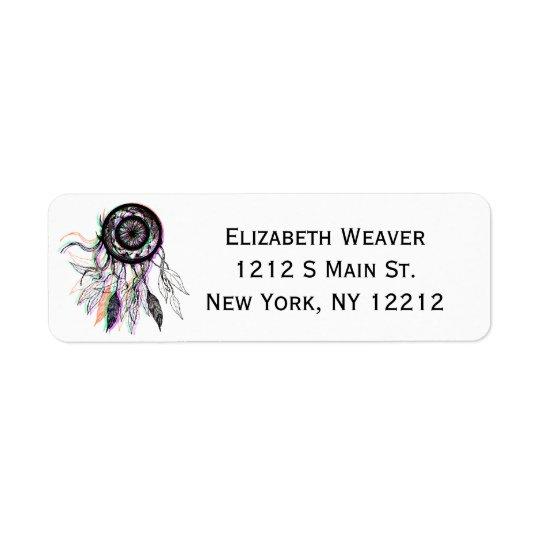 Modern Artistic Native American Dreamcatcher Return Address Label