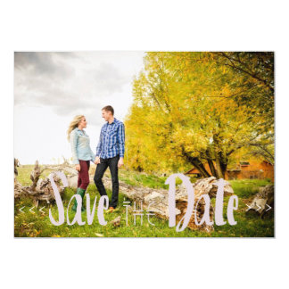 Modern Artistic Save The Date 13 Cm X 18 Cm Invitation Card