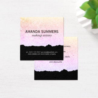 Modern Artistic Speckled Square Business Card