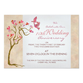 Modern & artistic wedding anniversary invitations