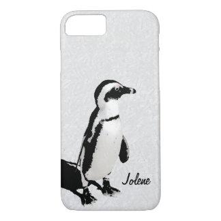 Modern Artsy Black White Penguin iPhone 8/7 Case