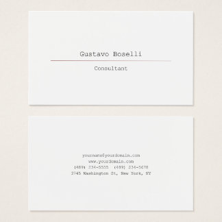 Modern Attractive Professional Simple Plain White Business Card