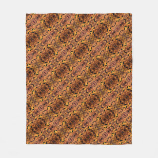 Modern Autumn Leaves Silhouette Pattern Fleece Blanket