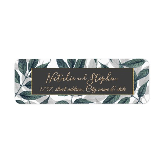 Modern autumn leaves wedding collection