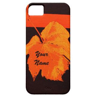 Modern autumn red bright grape leaf iPhone 5 case