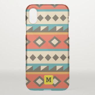 Modern  Aztec. Ethnic. Tribal. Geometric. iPhone X Case