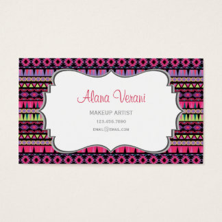 Modern Aztec Pattern Business Card