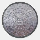 Modern Aztec Sun Stone Round Sticker