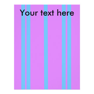 Modern baby blue stripes on violet 21.5 cm x 28 cm flyer
