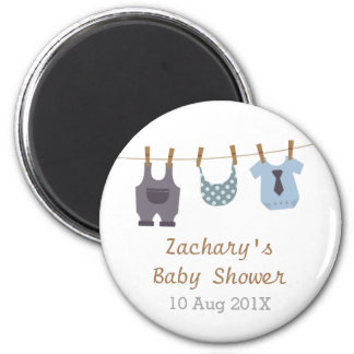 Modern Baby Clothes Baby Boy Shower Party Favors 6 Cm Round Magnet
