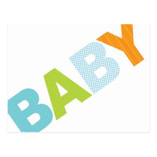 Modern Baby Shower Advice Card Bold in Blue Postcard