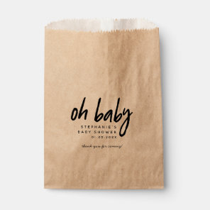 Modern Baby Shower | Oh Baby Favour Bags