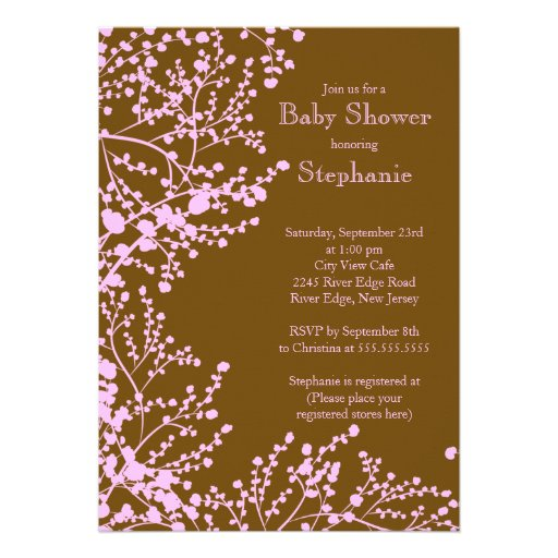 Modern Baby's Breath Floral Baby Shower Invitation