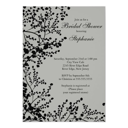 Modern Baby's Breath Floral Bridal Shower Card