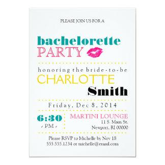 """Modern Bachelorette Party Invitation 5"""" X 7"""" Invitation Card"""