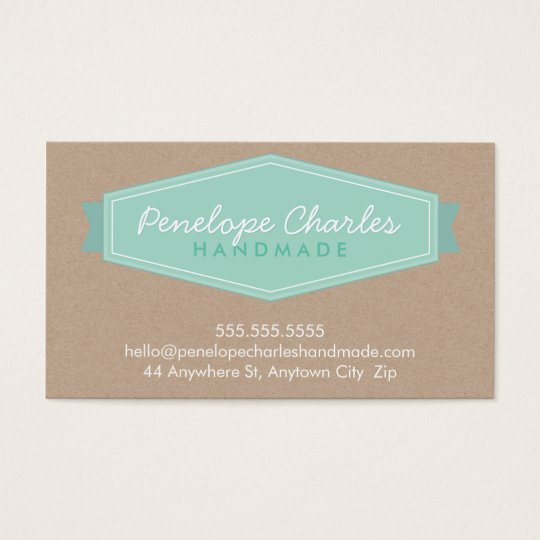 MODERN BADGE LOGO pastel bold mint Eco kraft