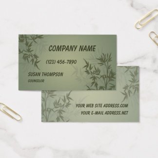 Modern Bamboo Graphic Business Card