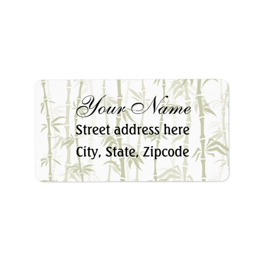 Modern Bamboo Trees Label