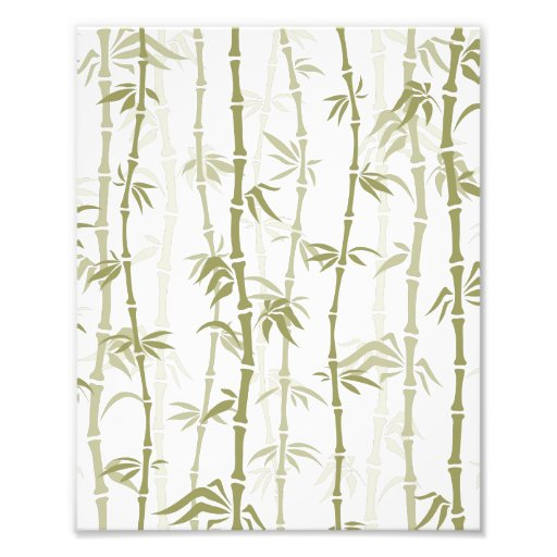 Modern Bamboo Trees Art Photo