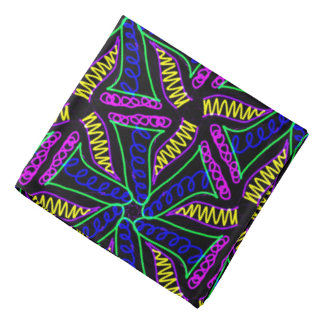 Modern bandana coloured
