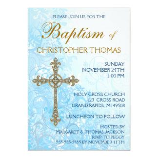 "Modern Baptism Invitation 5"" X 7"" Invitation Card"