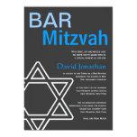 Modern Bar Mitzvah Invitation Custom Announcements