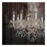 modern barnwood crystal chandelier country chic