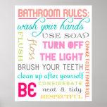 Modern Bathroom Rules Print