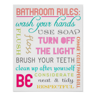 Funny Bathroom Etiquette Rules