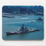 "Modern battleship, ""USS Wisconsin"", New York, U.S. Mousepad"
