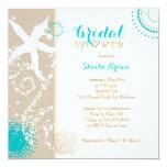 Modern Beach Bridal Shower 13 Cm X 13 Cm Square Invitation Card