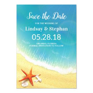 Modern Beach Wedding Save the Date Card