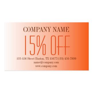 modern beauty tanning SPA Tangerine ombre orange Standard Business Cards