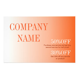 modern beauty tanning SPA Tangerine ombre orange 14 Cm X 21.5 Cm Flyer