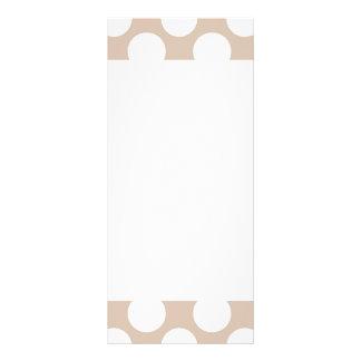 Modern Beige White Polka Dots Pattern Custom Rack Cards