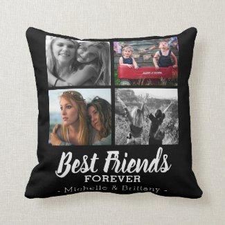 Modern Best Friends Forever Photo Cushion