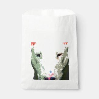 modern big Bull Terrier Favour Bags