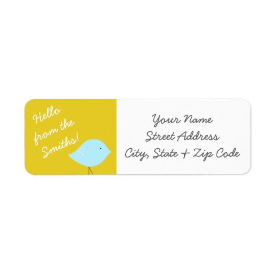 Modern Bird Address Labels