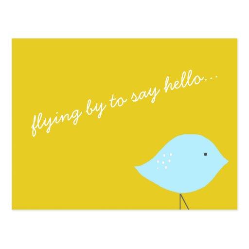 Modern Bird Postcard