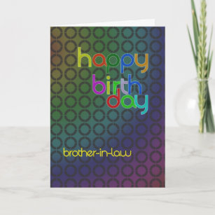 Modern Birthday Card For Brother In Law