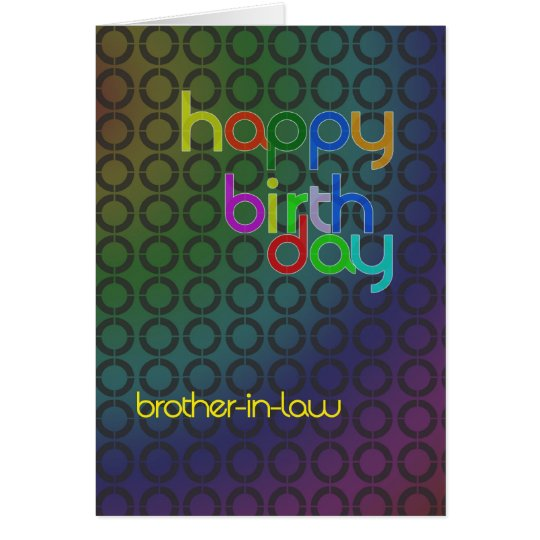 Modern Birthday card for brother-in-Law