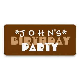 Modern Birthday Party BROWN and TAN A03 Invitations