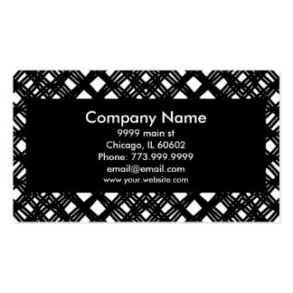 Modern Black Abstract angles rules and diamond Pack Of Standard Business Cards