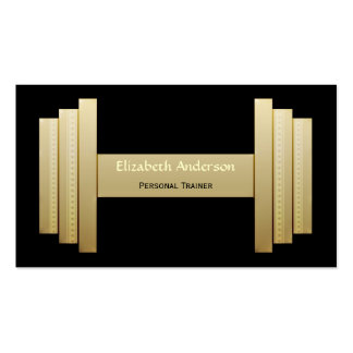 Modern Black and Gold Personal Trainer Business Card Template