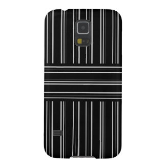 modern black and gray stripes pattern galaxy s5 case