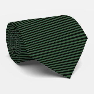 Modern Black and Hunter Green Pinstripe Stripes Tie