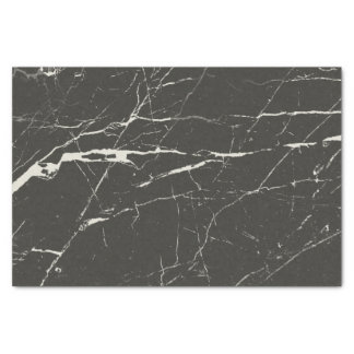 Modern Black And Light Gray Marble Pattern Tissue Paper
