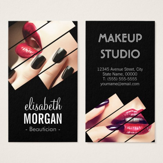 Modern Black and Red Fashion Makeup Beauty Salon