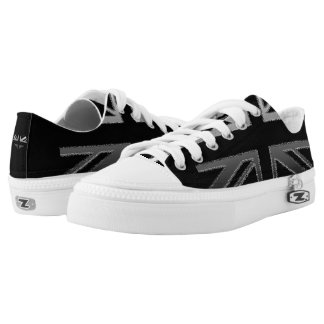 Modern Black and Silver Grey Union Jack Shoes
